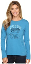 Life is Good Painted Apres Ski Long Sleeve Crusher Tee