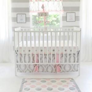 My Baby Sam Olivia Rose 3pc Crib Bedding Set Bedding