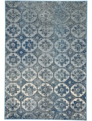 "Capel Rugs Cavalcade-Constantinople Handmade Flatweave Azure Rug Rug Size: Rectangle 3'11"" x 5'5"""