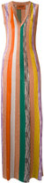 Missoni striped maxi dress - women - Polyester/Rayon/Viscose - 40