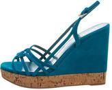 Prada Camoscio Wedge Sandals