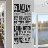 SnuggleDust Studios 'Family Rules' Wall Sticker Decal