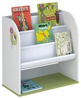 Polini Kids Sling Bookcase with Textile Shelves, White