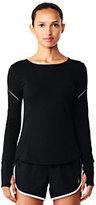 Lands' End Women's Speed Long Sleeve T-shirt-Black