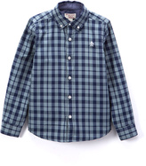 Original Penguin Faded Green Plaid Button-Up - Boys