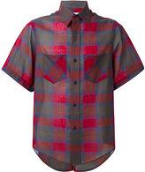 Facetasm checked shortsleeved shirt - men - Cotton/Nylon/Wool - 5