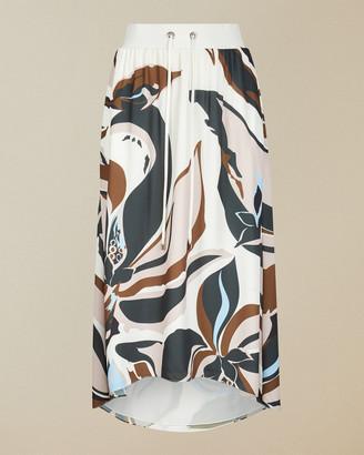 Ted Baker HEDDAA Masquerade rib waistband maxi skirt