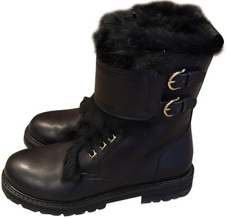 Salvatore Ferragamo Black Fur Boots