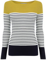 "Oasis Stripe Ribbed Sweater [span class=""variation_color_heading""]- Multi Orange[/span]"