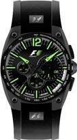 Jacques Lemans Speed-ChronoNightlight F-5011J 42mm Ion Plated Stainless Steel Case Rubber Mineral Men's Watch