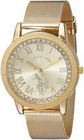 U.S. Polo Assn. Women's Quartz Metal and Alloy Casual Watch, Color:Gold-Toned (Model: USC40110)