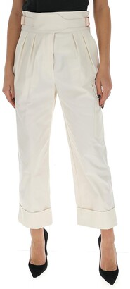 See by Chloe High-Waisted Buckled Trousers