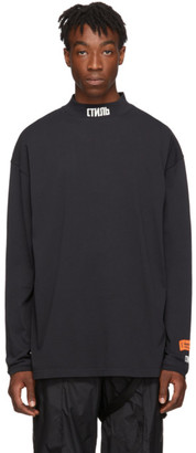 Heron Preston Black Turtleneck Style Long Sleeve T-Shirt