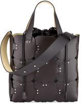 Paco Rabanne 1601 Cabas Medium Studded Patchwork Tote Bag