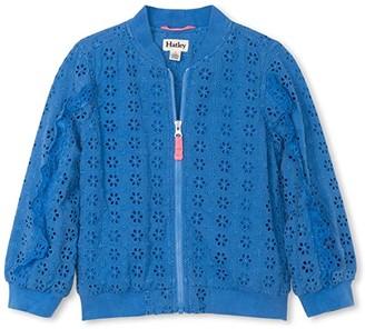 Hatley Sky Blue Bomber Jacket (Toddler/Little Kids/Big Kids) (Blue) Girl's Clothing