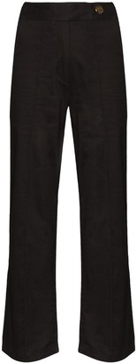 USISI SISTER Stella wide-leg cropped trousers