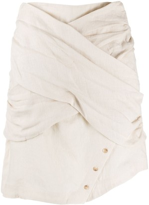 Each X Other Textured Wrap Front Skirt