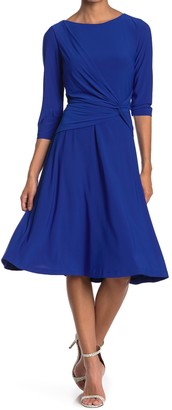 Eliza J Side Twist Fit & Flare Dress