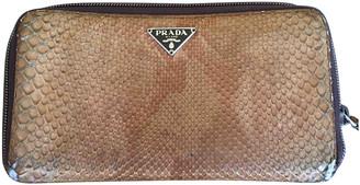 Prada Beige Exotic leathers Wallets