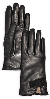Bloomingdale's Bow Leather & Cashmere Gloves - 100% Exclusive