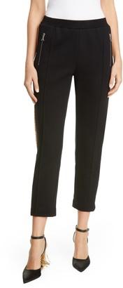 Area Crystal Stripe Slim Track Pants