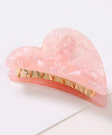 Ella & Elly Women's Hair Clips Pink - Pink Marbled Half-Heart Alligator Hair Clip