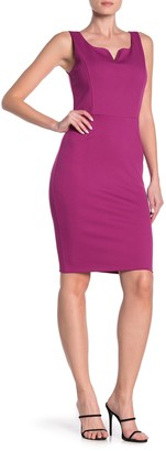 Love...Ady Wired V Sleeveless Ponte Bodycon Dress