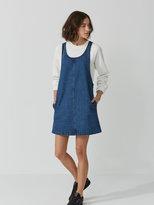 Frank + Oak Pinafore Dress in Denim Indigo