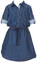 Copper Key Little Girls 4-6X Elastic Waist Chambray Dress