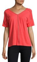 Lord & Taylor Double V-Neck Tee