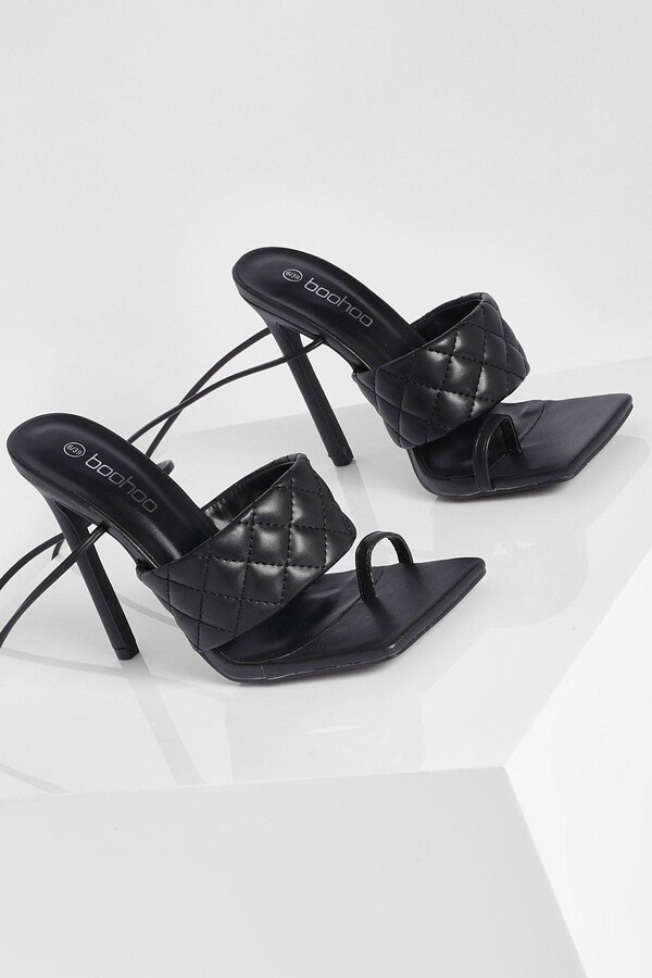Thumbnail for your product : boohoo Quilted Toe Post Sandal