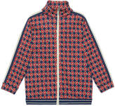 Gucci Boy's Allover G Print Zip-Front Cardigan, Size 4-12