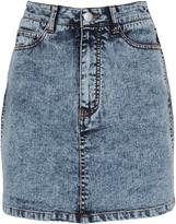 Tibi High-Rise Acid Denim Mini Skirt
