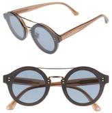 Jimmy Choo Women's Monties 64Mm Round Sunglasses - Dark Grey/ Glitter/ Gold