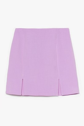 Nasty Gal Womens What's Slit Gonna Be High-Waisted Mini Skirt - Lilac