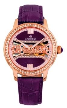 Empress Rania Mechanical Plum Leather Watch 38mm