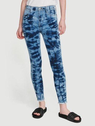 Frame Tie Dye Le High Skinny Raw Edge
