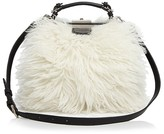 Etienne Aigner Long Hair Shearling Doctor Satchel