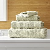 Crate & Barrel Ribbed Sage Green Bath Towels