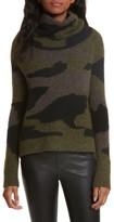 Veronica Beard Women's Davis Camo Print Turtleneck Sweater