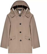 Hardy Amies Gerrard Beige Hooded Coat