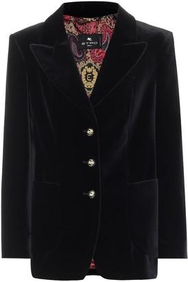 Etro Stretch-cotton velvet jacket