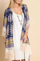 Umgee USA Paisley Fringe Kimono