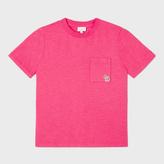 Paul Smith Girls' 2-6 Years Fuchsia Zebra Logo 'Nadege' T-Shirt