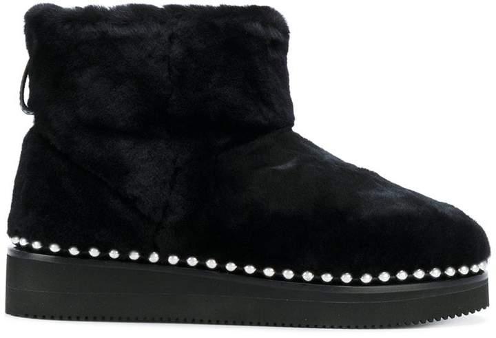 fur boots with studded trim - Black Alexander Wang 7J5bRjprK