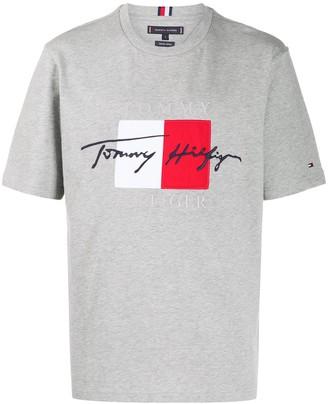 Tommy Hilfiger logo print organic cotton T-shirt