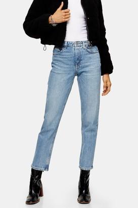 Topshop Womens Considered Bleach Straight Jeans - Bleach Stone