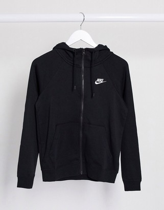 Nike Essential zip through hoodie in black