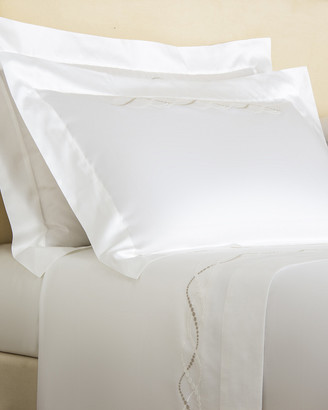 Frette Luminescent Pearls Embroidery Euro Sham