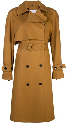 Proenza Schouler White Label Doube-Breasted Belted Trench Coat